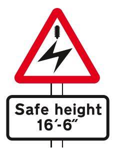 safe height sign