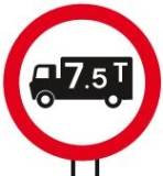 restriction for vehicles 7.5 tonnes and over