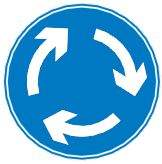 mini roundabout ahead