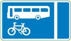 bus and cycle lane