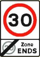 30mph zone ends