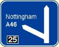 motorway exit sign