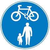 cyclist and pedestrian route