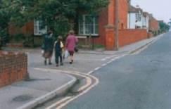 crossing pedestrians