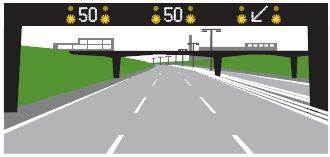 Active Traffic Management on a motorway