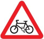 cyclist-route-warning-sign