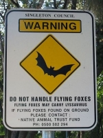 fruit-bats-virus-risk-sign-australia