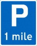 parking-one-mile-ahead-information-sign