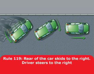 hc_rule_119_rear_of_the_car_skids_to_the_right_driver_steers_to_the_right