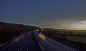 Motorway blind yeo and moor