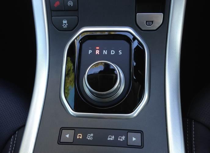 Range Rover Evoque TD4 gear selection dial