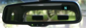 rear view mirror with compass