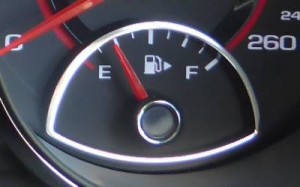 fuel gauge nearly empty