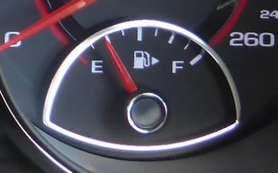 fuel gauge nearly empty