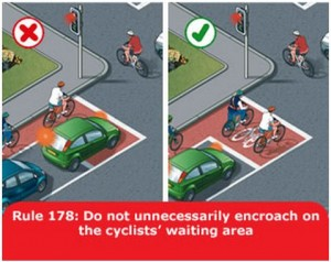highway-code-rule-178-encroach-cyclists-area