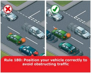 highway-code-rule-180-position-vehicle-correctly