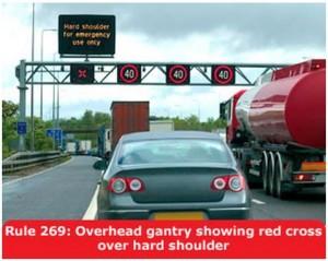 highway-code-rule-269-overhead-gantry