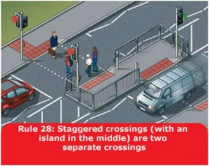 highway-code-rule-28-staggered-crossings