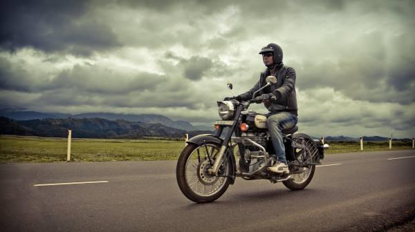 motorbike rural road