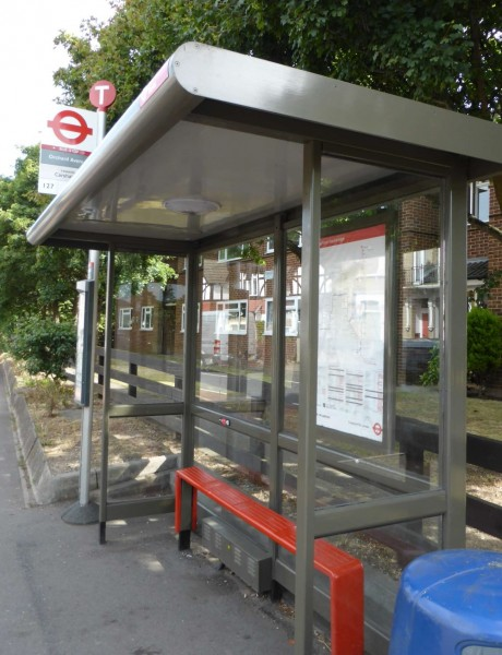 bus stop in Wallington, London