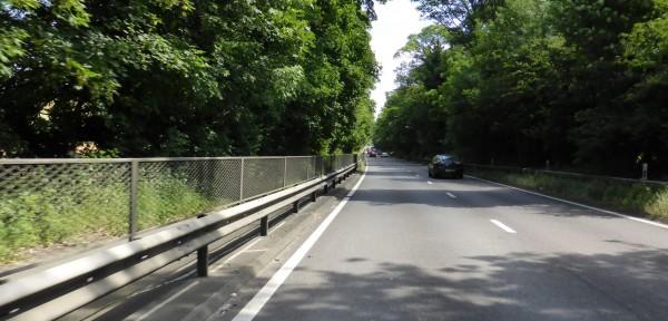 crash barrier alongside a dual carriageway