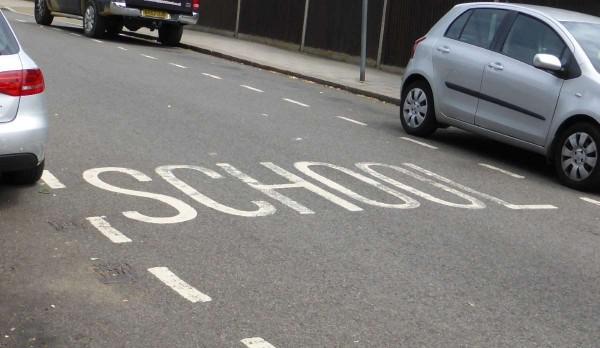 school road marking