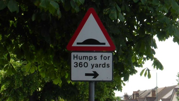 humps for 300 yards sign