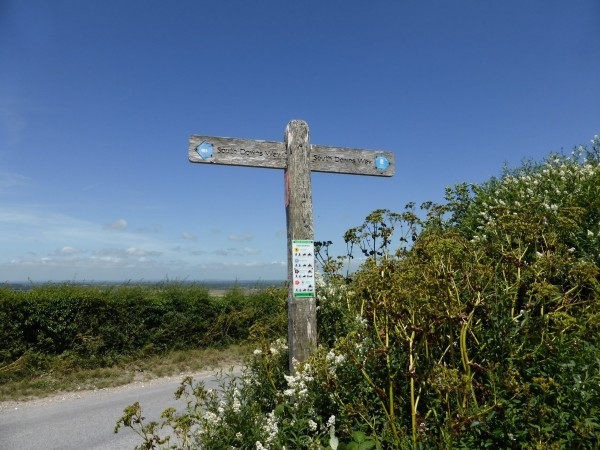 south downs way walk signage