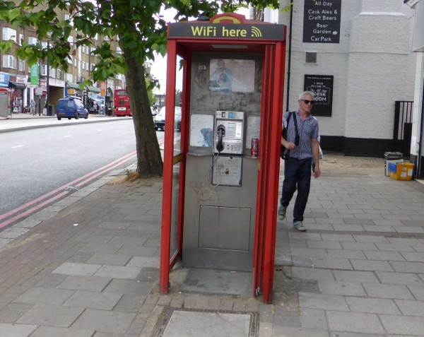 telephone box with wi-fi
