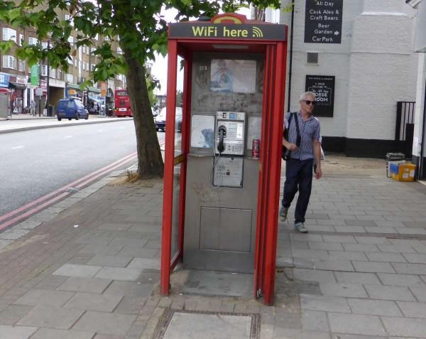 telephone box with wi-fi