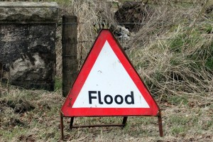 A flood sign might not have been put up if it's a flash flood