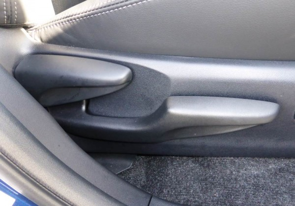 seat pitch adjustment and height handles