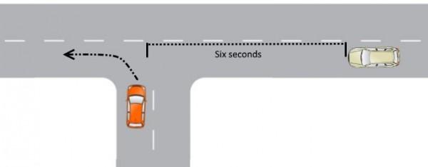 Left turn at T junction