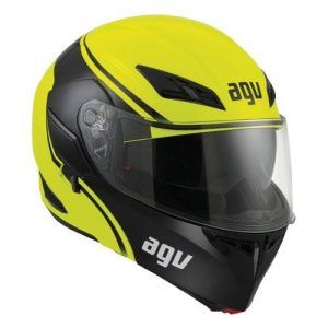high-visibility motorcycle helmet
