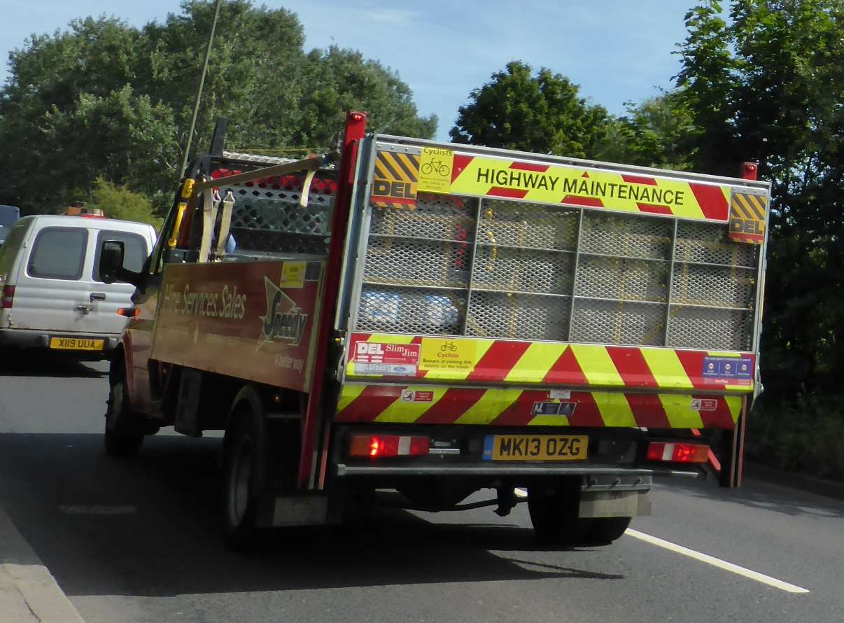 Highway maintenance truck