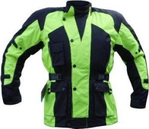 Bright-coloured motorcycle jacket
