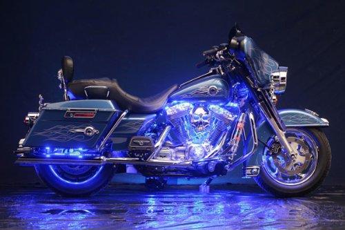 neon lights motorbike