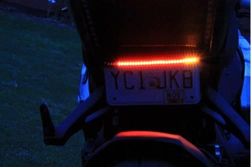 number plate light strip