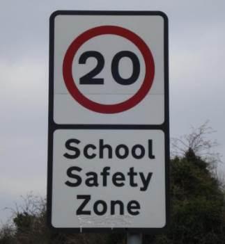 school safety zone sign