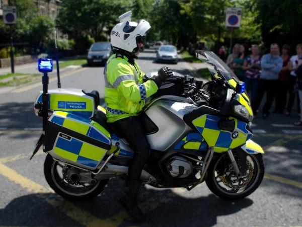 metropolitan police motorbike