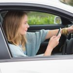 talking on mobile phone when driving