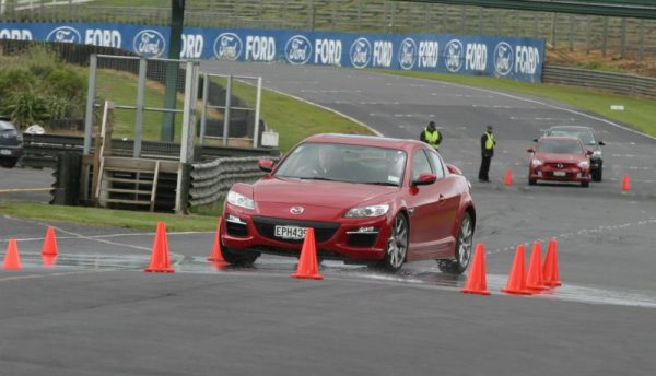 Mazda RX-8 overseas launch at a racetrack