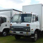 lorries with aerodynamic aids
